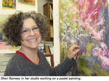 Sheri Ramsey in her studio